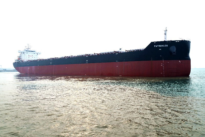 "Jinglu Ship Industry successfully delivered a 82000DWT bulk carrier named ""PATROKLOS"""