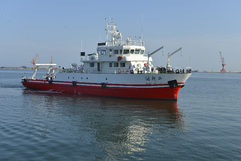 "300T scientific research ship ""INNOVATION(CHUANGXIN) 2"" built by Jinglu Ship Industry Co., Ltd was delivered successfully"